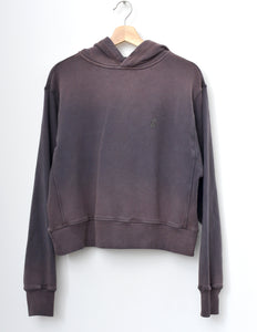 JAMYLA HOODIE SWEATSHIRT IN SMOKEY CHARCOAL