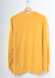 Rainbow Ombre Stitching Sweatshirt - Yellow L