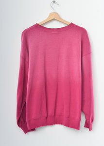 Happy Face Sweatshirt-Magenta-L-#26
