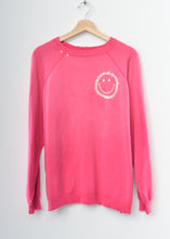 Happy Face Sweatshirt-Magenta-L-#30
