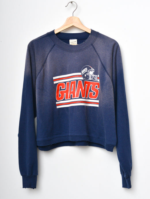 NY Giants Cropped Sweatshirt - Navy