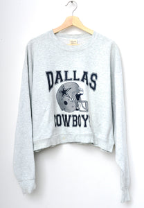 Dallas Cowboys Cropped Sweatshirt - H. Grey