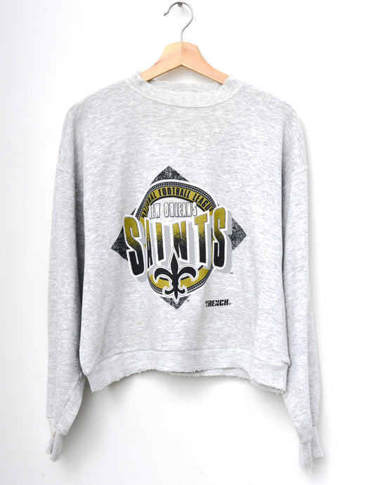 Saints Cropped Sweatshirt -H.Grey