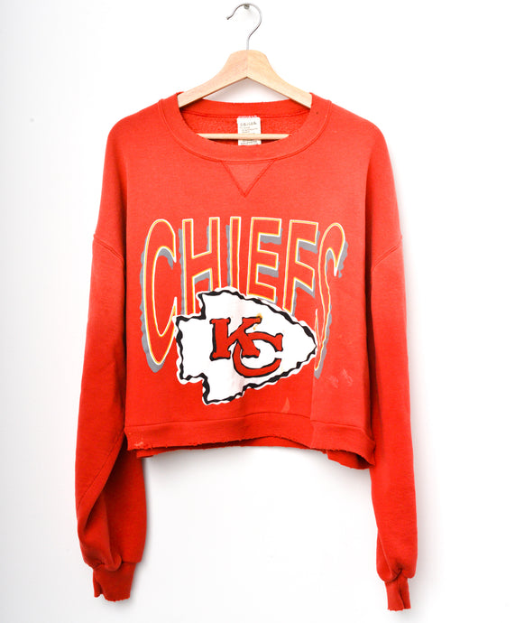 Chiefs Cropped Sweatshirt - Red