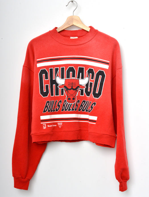 Chicago Bulls Cropped Sweatshirt - Red