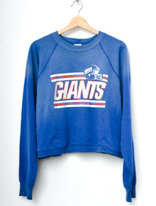Giants Cropped Sweatshirt - Blue