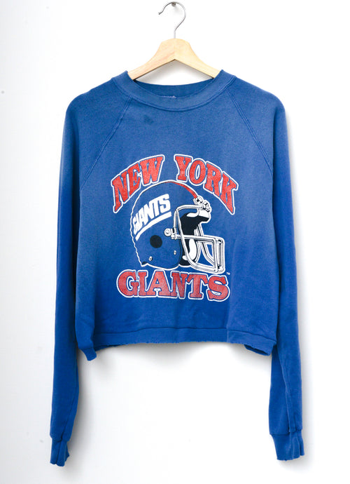 NY Giants Cropped Sweatshirt - Blue