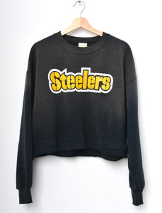 Steelers Cropped Sweatshirt - Smokey Black