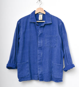SHORT INDIGO FRENCH WORKER JACKET