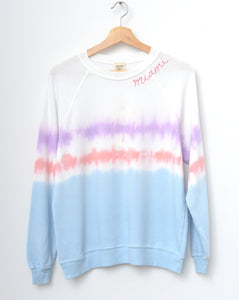 "Coachella Tie Dyed ""Miami"" Sweatshirt - Cotton Candy"