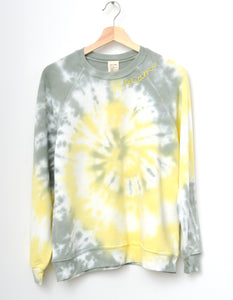 "Coachella Swirl Tie died ""Miami"" Sweatshirt - Lemondrop"