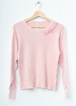 Pastel California Thermal Tee L/S-Pink