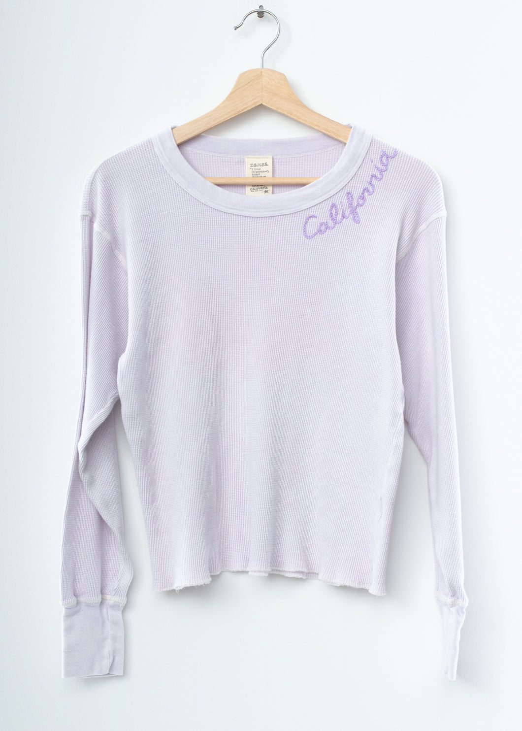Pastel California Thermal Tee L/S-Lavender