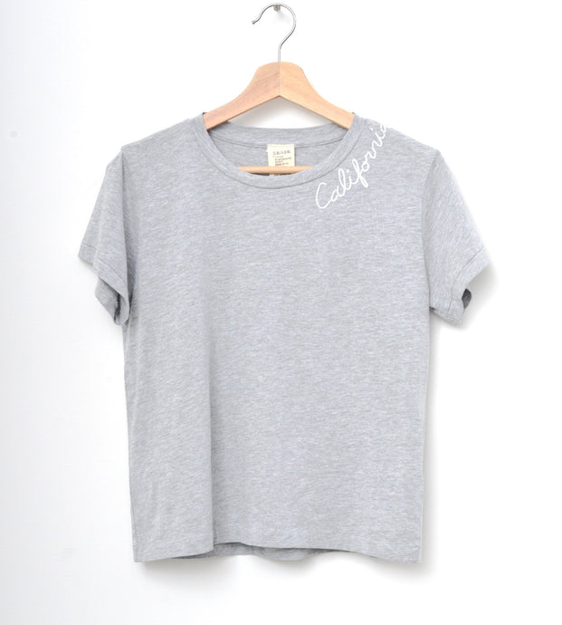 H.GREY S/S TEE WITH CUSTOM HAND EMBROIDERY