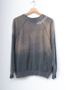 "#30 Vintage ""absofuckinglutely""  Sweatshirt -Charcoal-ML"