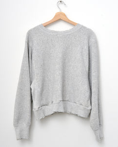 Penn State Cropped Sweatshirt -H.Grey