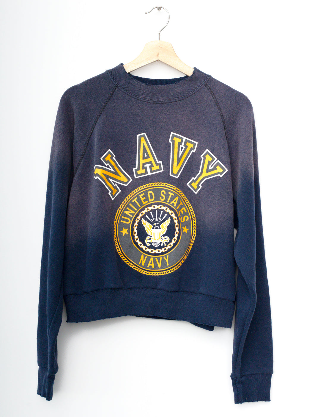 Vintage US Navy Cropped Sweatshirt