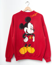 Vintage Mickey & California Embroidery Sweatshirt - Red