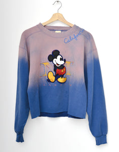 Vintage Mickey & California Embroidery Sweatshirt - Washed Blue
