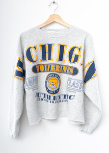 Michigan Wolverines Crop Sweatshirt