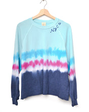 "Festival Tie Dyed ""NYC ❤️"" Cropped Sweatshirt - Blue"
