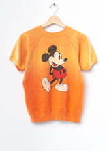 Vintage Mickey Sweatshirt -Orange- Customize Your Embroidery Wording