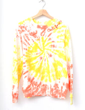 Swirl Tie Dyed Sweatshirt- Sunkissed
