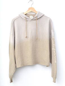 SOY MILK  L/S HOODIE WITH CUSTOM HAND EMBROIDERY