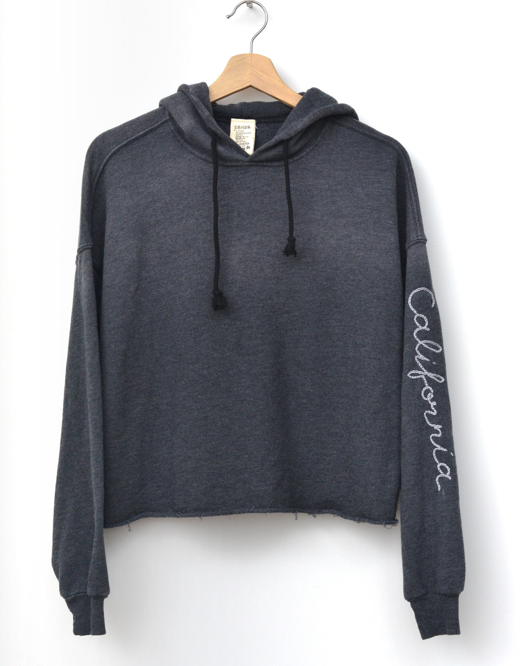 Sierra Hoodie with California Embroidery- Washed Black