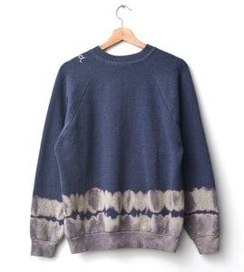 California Tie Dye Sweatshirt- Blue Charcoal One Size