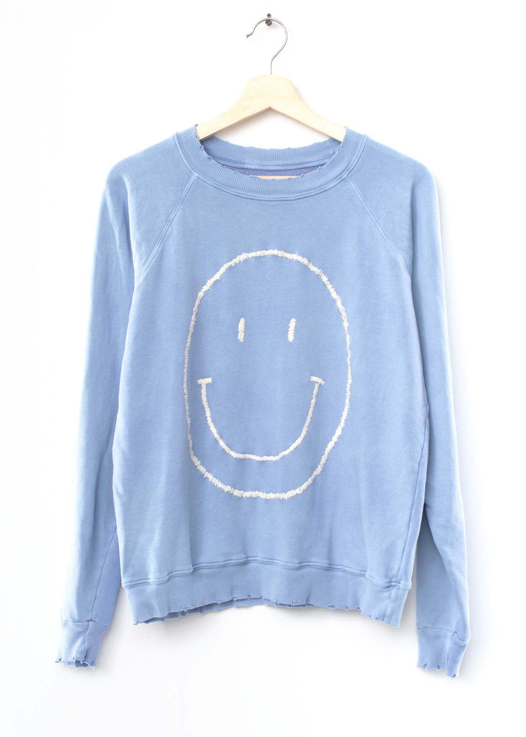 Big Smiley Face Sweatshirt - Blue