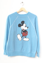 Vintage Mickey Sweatshirt -Lt. Blue- Customize Your Embroidery Wording