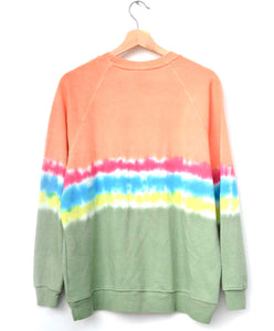 "Festival Tie Dyed ""California"" Sweatshirt- Sunset"
