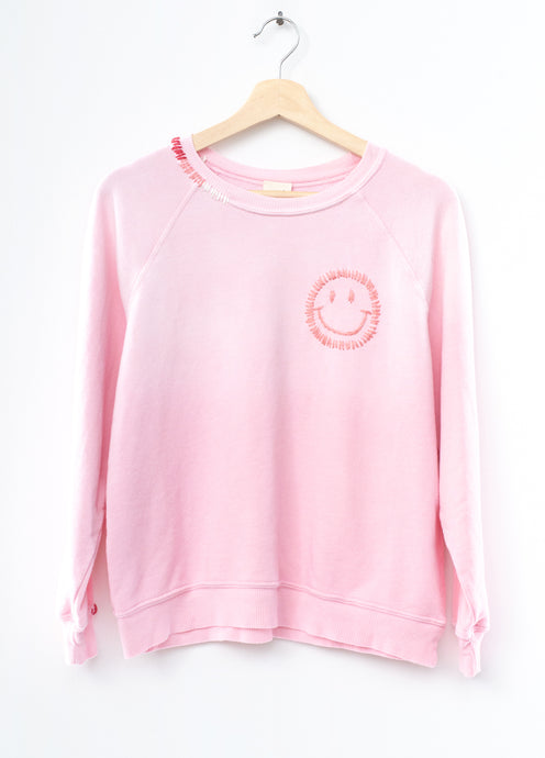 Pastel Smiley Face Sweatshirt(5 Colors)