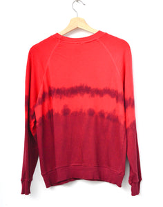 "Festival Tie Dyed ""NYC❤️"" Sweatshirt- Red"