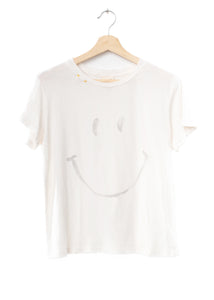 Smiley Face  Tee- Off White