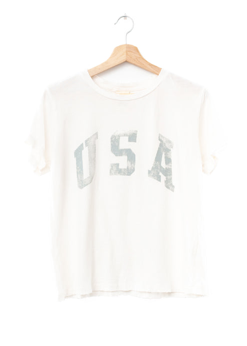 USA Tee- Off White