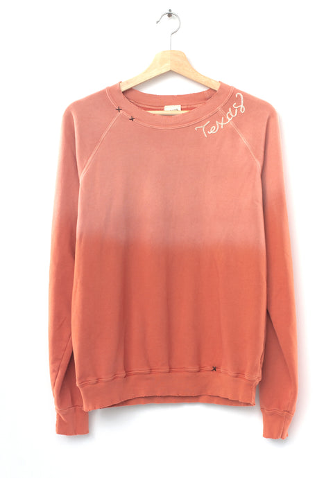 Texas Sweatshirt- Rust