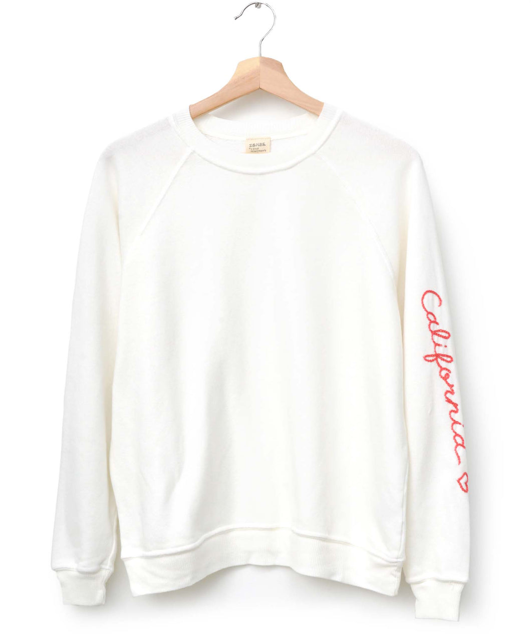 Neon California ❤️ on Sleeve Sweatshirt - Off White