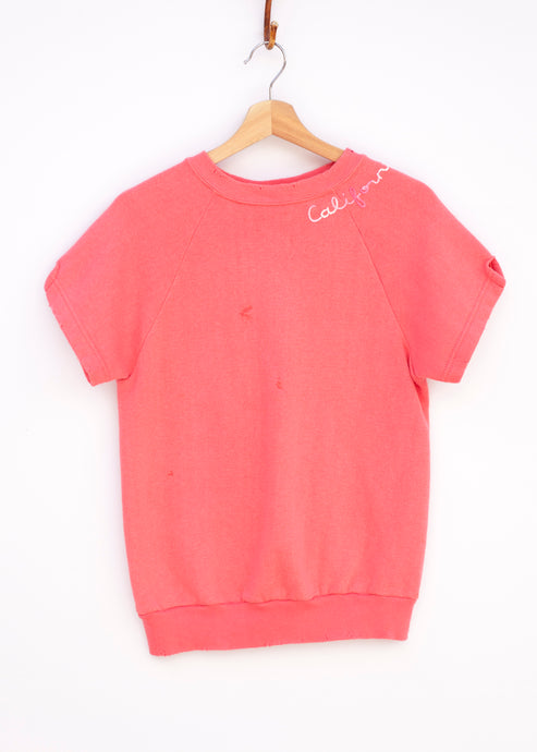 California Shorty Sweatshirt - Flamingo
