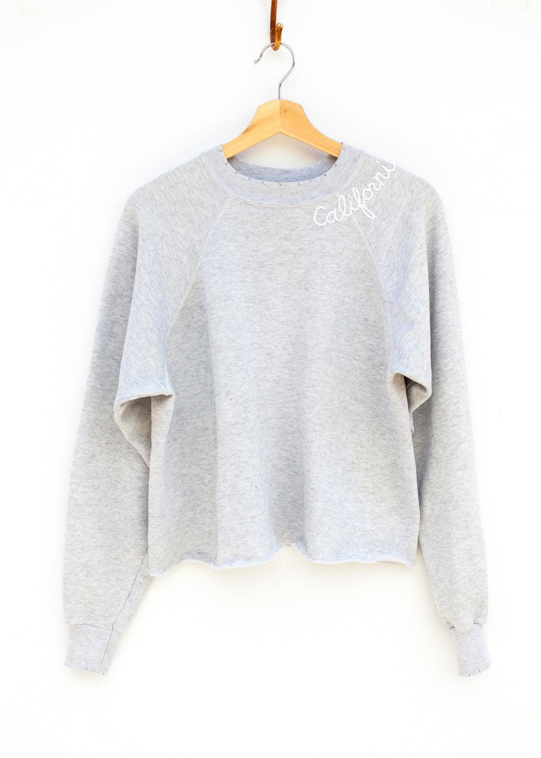 California Cropped Sweatshirt - Heather Grey