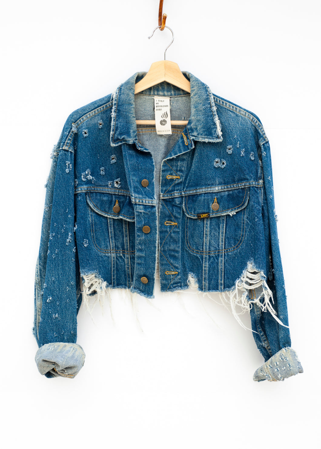 Jean Genie Cropped Denim Jacket