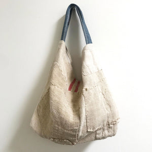 Vintage Linen Tote - Small