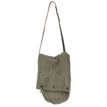 VINTAGE ARMY DUFFEL BAG WITH VINTAGE BELT STRAP - SMALL