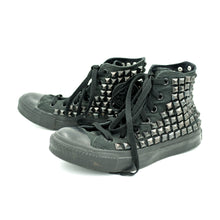 CUSTOM STUDDED CONVERSE CHUCK TAYLOR HIGH TOP - ALL BLACK