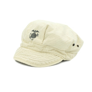 VINTAGE USMC MARINES HAT INSPIRED CAP - CREAM