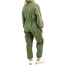 BLANKET STITCH OVER-DYED JUMPSUIT - ELASTIC HEM