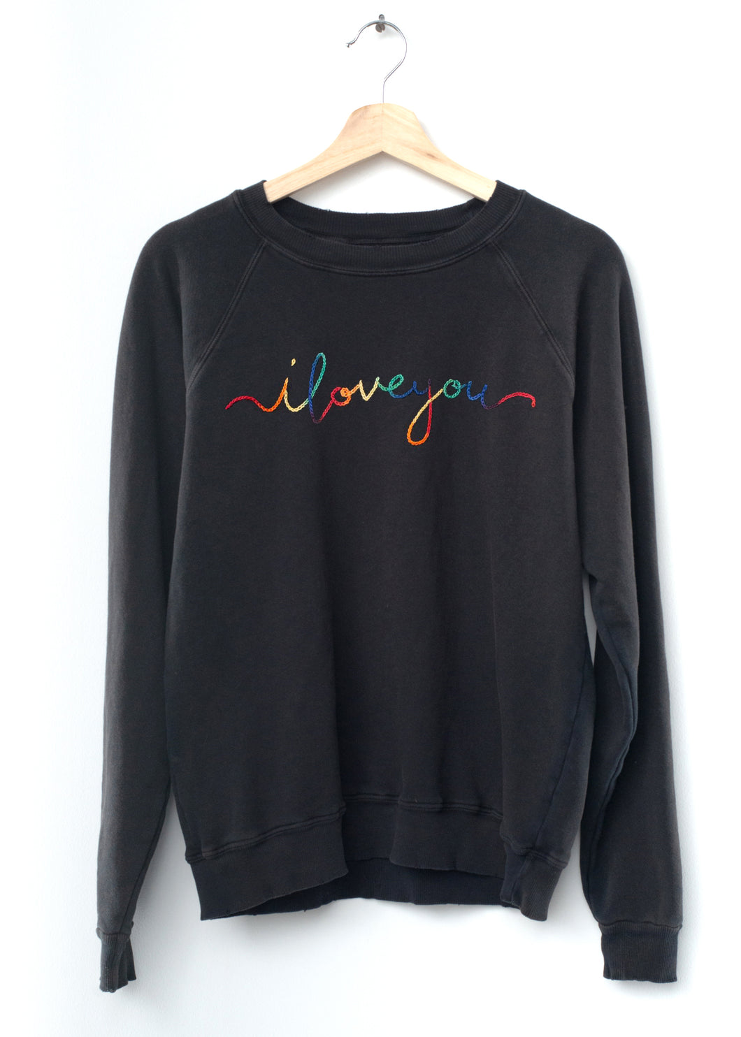 i love you Sweatshirt - Washed Black