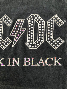 AC⚡DC Back In Black Rhinestone Tee