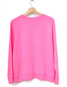 Neon Los Angeles Sweatshirt- Pink